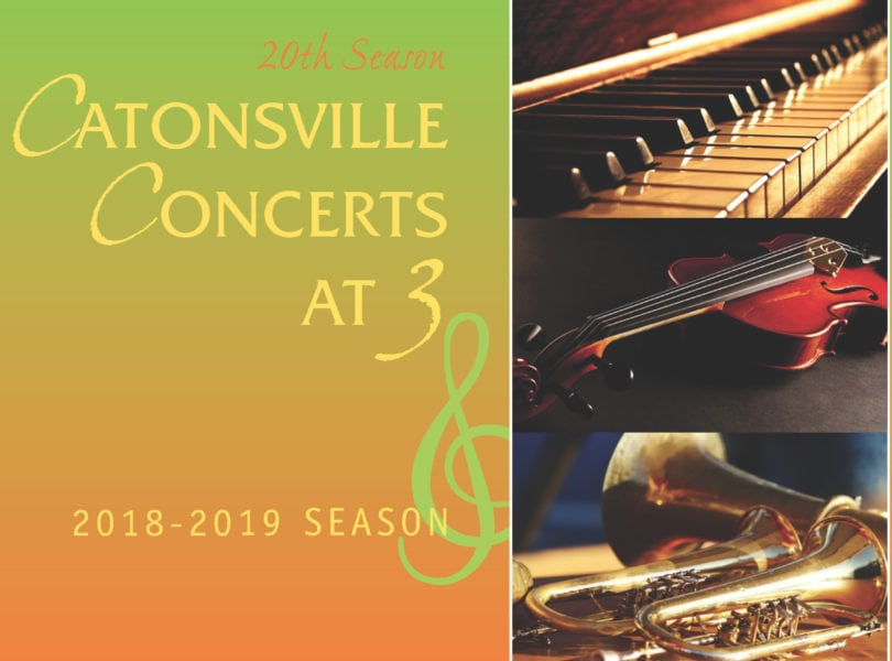 Catonsville Concerts at 3, 2028-2019 season