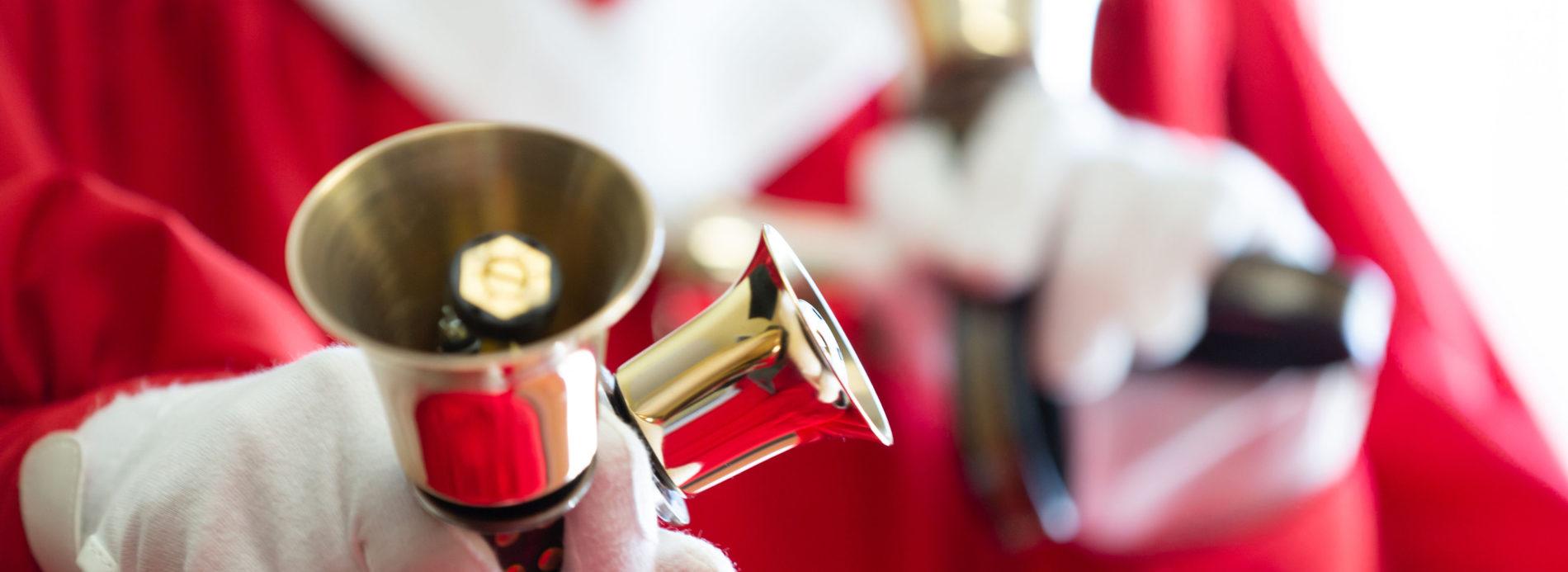 Close up shot of bells.