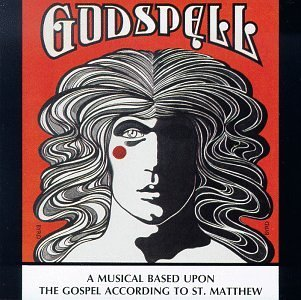 Godspell playbill drawing of a person with wavy hair