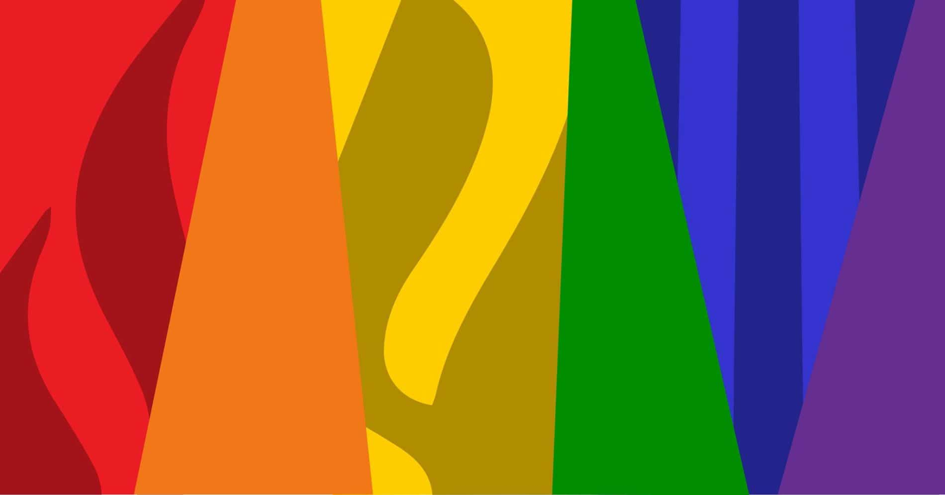 graphic blocks of colors of the rainbow