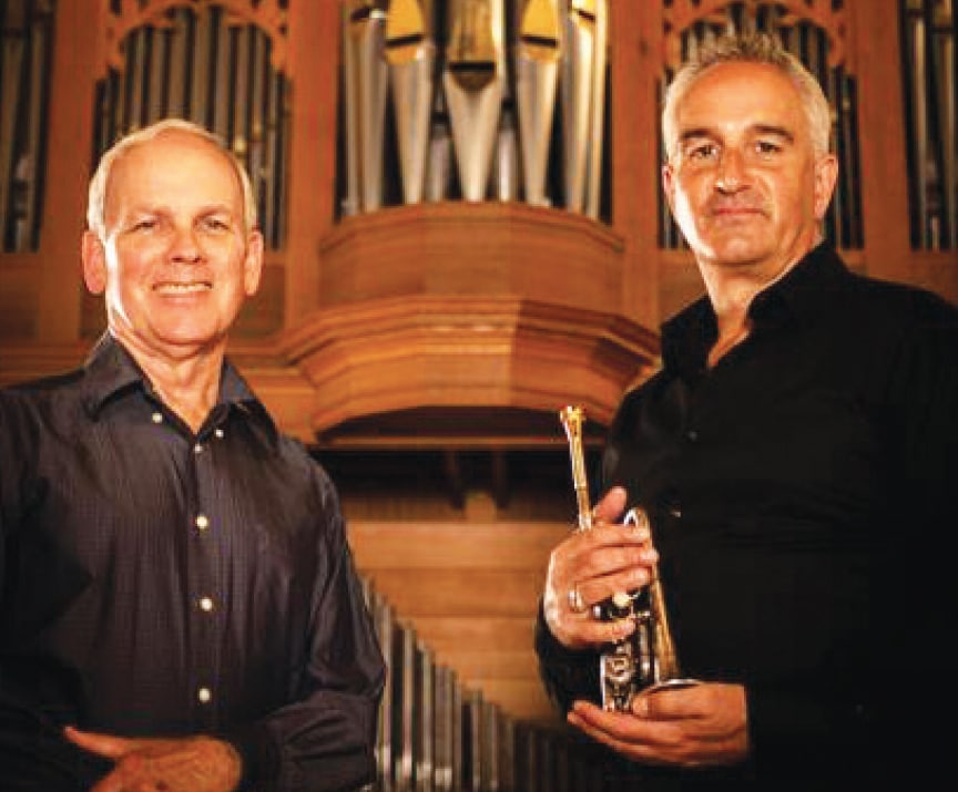 Andrew Balio & Bruce Bengtson with organ and trumpet